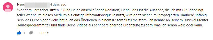 youtube kommentar hans